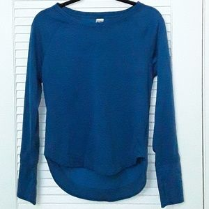 Champion Duo Dry Sweat Shirt with Thumb Holes Blue
